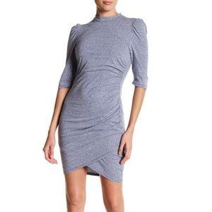 {Soprano} Ruched Bodycon Dress Blue Size Small